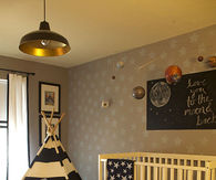 Traditional space theme nursery