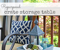 How to make a Repurposed crate storage table