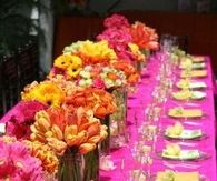 Pink Flower Table