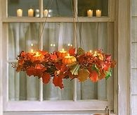Pretty Mini Pumpkin Chandelier for Thanksgiving