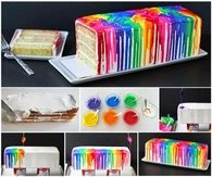 How to bake a melted rainbow cake