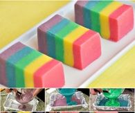 How to make a colorful fudge dessert