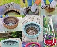 How to make a garden tire planter
