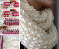 How to create a loom infinity scarf