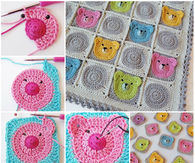 How to craft teddy bear squares
