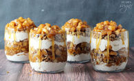 How to make caramel apple trifles