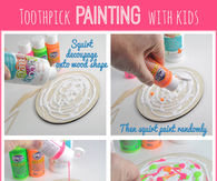 Toothpick painting crafts for kids