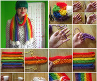 How to make a rainbow scarf