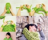 How to design an arm scarf