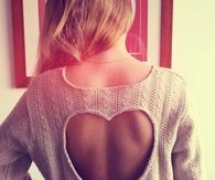 Heart sweater cutout