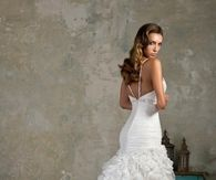Gorgeous Wedding Gown with Spaghetti Straps and Ruffled Skirt