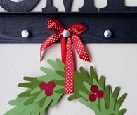 Hands Construction Paper Wreath