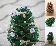How to make pine cone trees