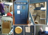 How to make a tardis cat fort
