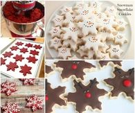 How to make snowflake cookies for Christmas