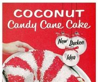 Coconut Candy Cane Cake
