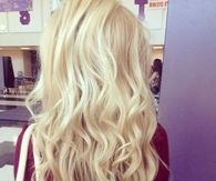 pretty blond curls