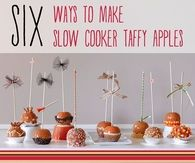 Slow Cooker Taffy Apples