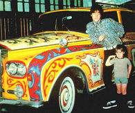 John Lennon with Son Julian and his Rolls Royce Phantom V-07