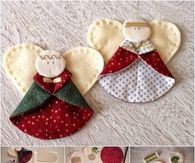 How to create angel fabric ornaments