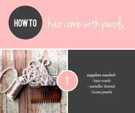 DIY Hair Comb With Pearls