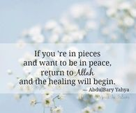then the healing will begin