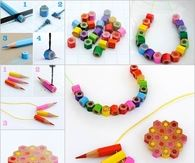 How to make colored pencil jewelry