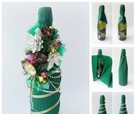 How to make a champagne bottle for the holidays