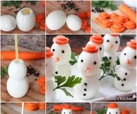 How to make an egg snowman