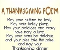 Thanksgiving Poems For Kids and Adults