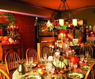 Colorful Dining Room on Thanksgiving