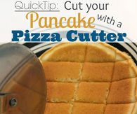 Cut Your Pancake With A Pizza Cutter