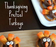 pretzel Turkeys for Thanksgiving