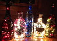 Old Bottles Filled with Lights