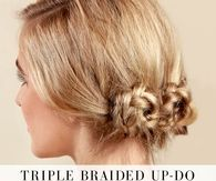 DIY Triple Braided Updo