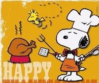 Snoopy Cooking Turkey