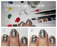 DIY Christmas Light Nail