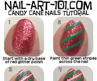 DIY Candy Cane Nails