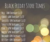 Black Friday Store Times