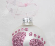 Baby Feet Christmas Ornaments
