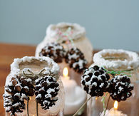 Pinecone Candles