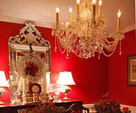 Beautiful Dining Room at Christmas