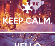 Keep calm, hello December