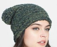 Modeling a Green Beanie