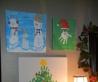 Christmas Hand and footprint pictures