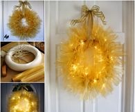 How to make a twinkle tulle wreath