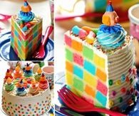 How to make a checkerboard rainbow cake