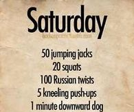 Saturday Workout
