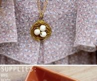 How to make a DIY bird nest necklace