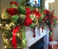 Beautiful Christmas Garland for Fireplace Mantle
